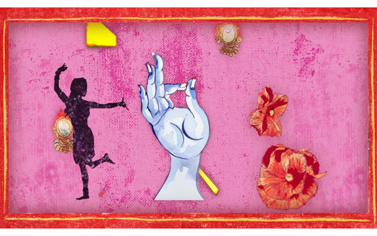 Chitra Ganesh, still from the digital animation 'Adventures of the White Beryl,' 2018 | Image courtesy of the artist.