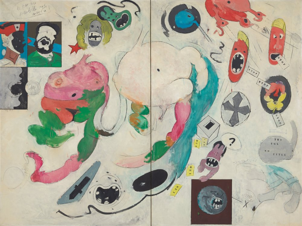 A newly acquired painting by Hervé Télémaque has AbEx sweep, Pop verve and an otherness that makes it a world of its own.CreditArtists Rights Society (ARS), New York/ADAGP, Paris; The Museum of Modern Art