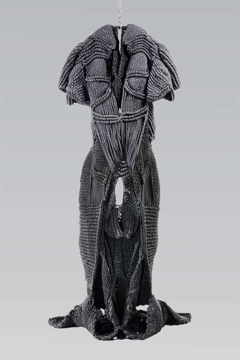 This hemp-woven figure of a female nature spirit, by the Indian sculptor Mrinalini Mukherjee, will be on view with MoMA's reopening.CreditThe Museum of Modern Art