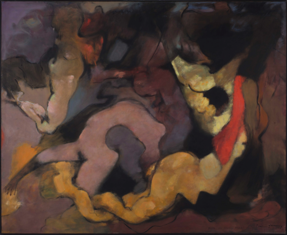 Dorothea Tanning,  Même les jeunes filles  (Even the Young Girls), 1966, oil on canvas, 1.7 × 2 m. Courtesy: © DACS, 2019