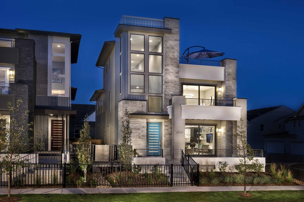 Alto at Stapleton    |  Denver, Colorado  AWARDS  +  2018 National Gold Award  for Best Architectural Design of a Detached Home 3,001-3,500 Sq. Ft.  +  2018 National Silver Awar d for Best Architectural Design of a Detached Home 2,001-2,500 Sq. Ft.  +  2017 Denver MAME Award  for Best Architectural Design of a Detached Home 2,001-2,600 Sq. Ft.