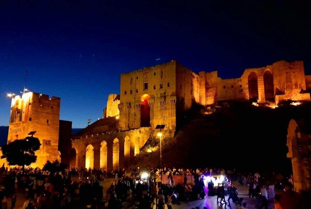 The Aleppo Citadel at Night