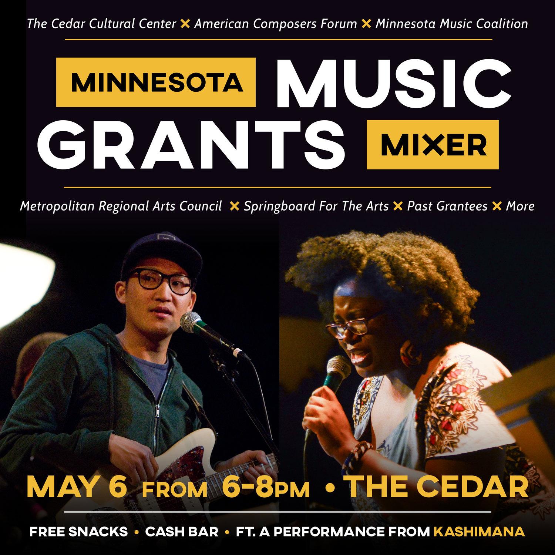 Minnesota Music Grants Mixer — The Cedar Cultural Center
