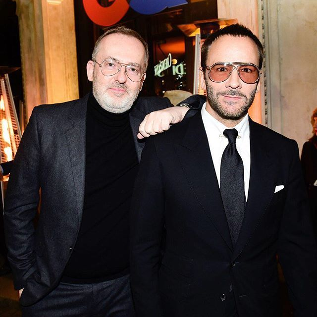 GQ  creative director Jim Moore and designer tom ford