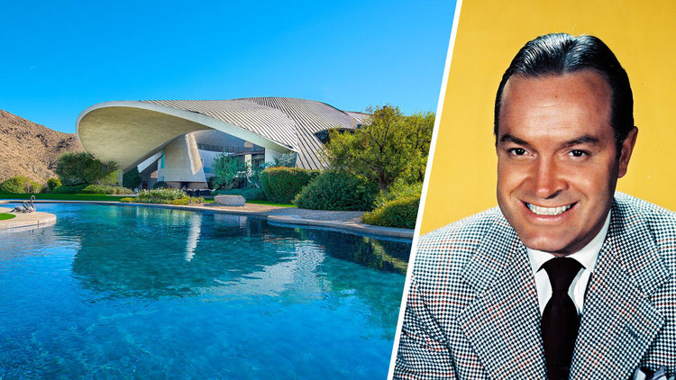 BOB HOPE AND HIS ICONIC HILL TOP HOME