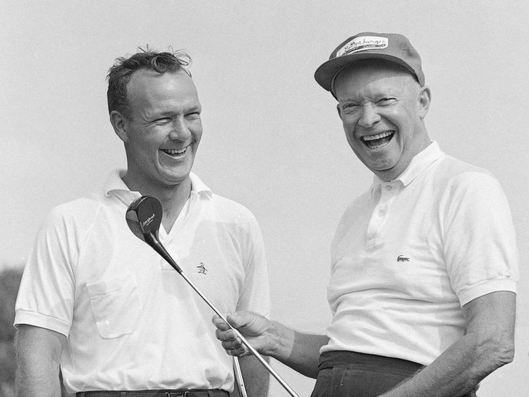 ARNOLD PALMER AND DWIGH D EISENHOWER