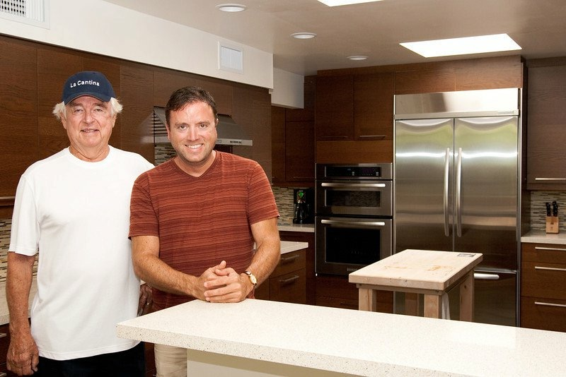 Architect Hugh Kaptor and homeowner Tony Vaccaro