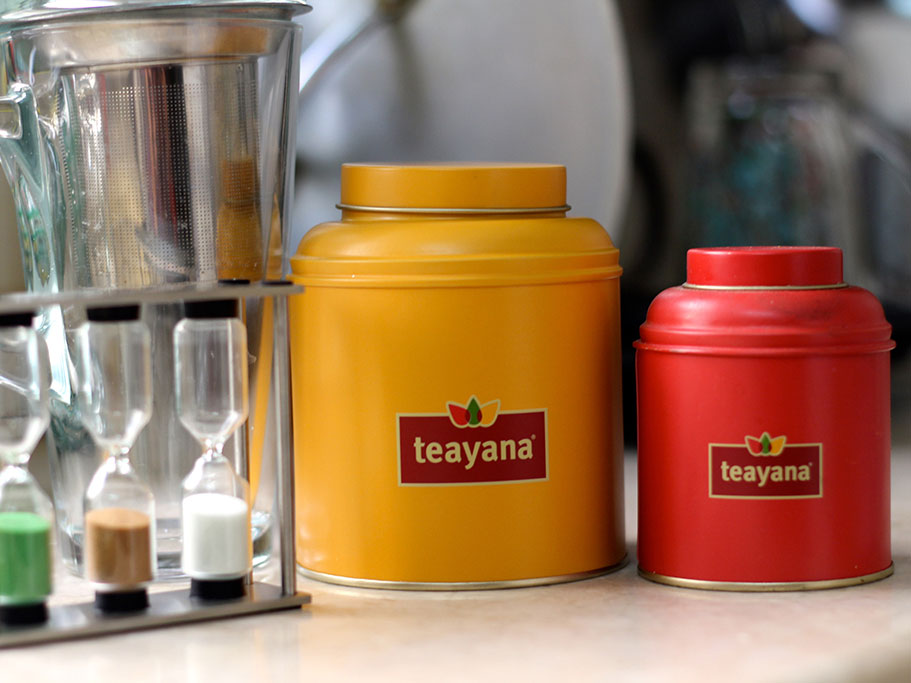 Teayana logo in full color application  Role: Senior Brand Designer, Rayat Brands