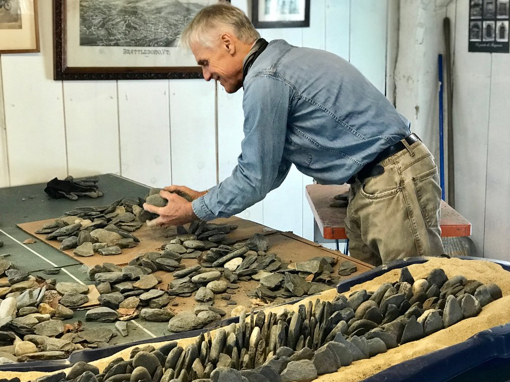 Dan Snow, Rocky Toppers, Fantasy Topography, work in process for Shelburne Museum installation, March 2019