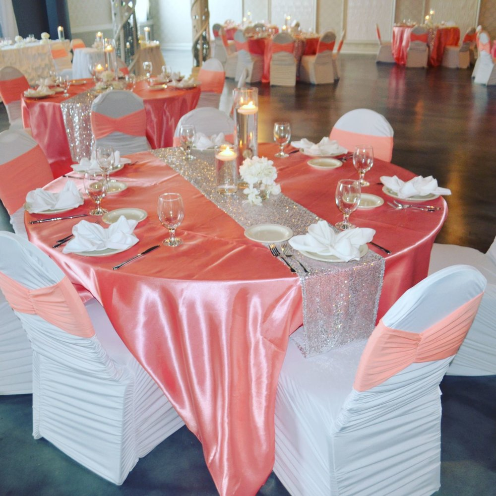 Used… - Chair Covers, Runners, Overlays, Centerpieces, Sashes & Bands