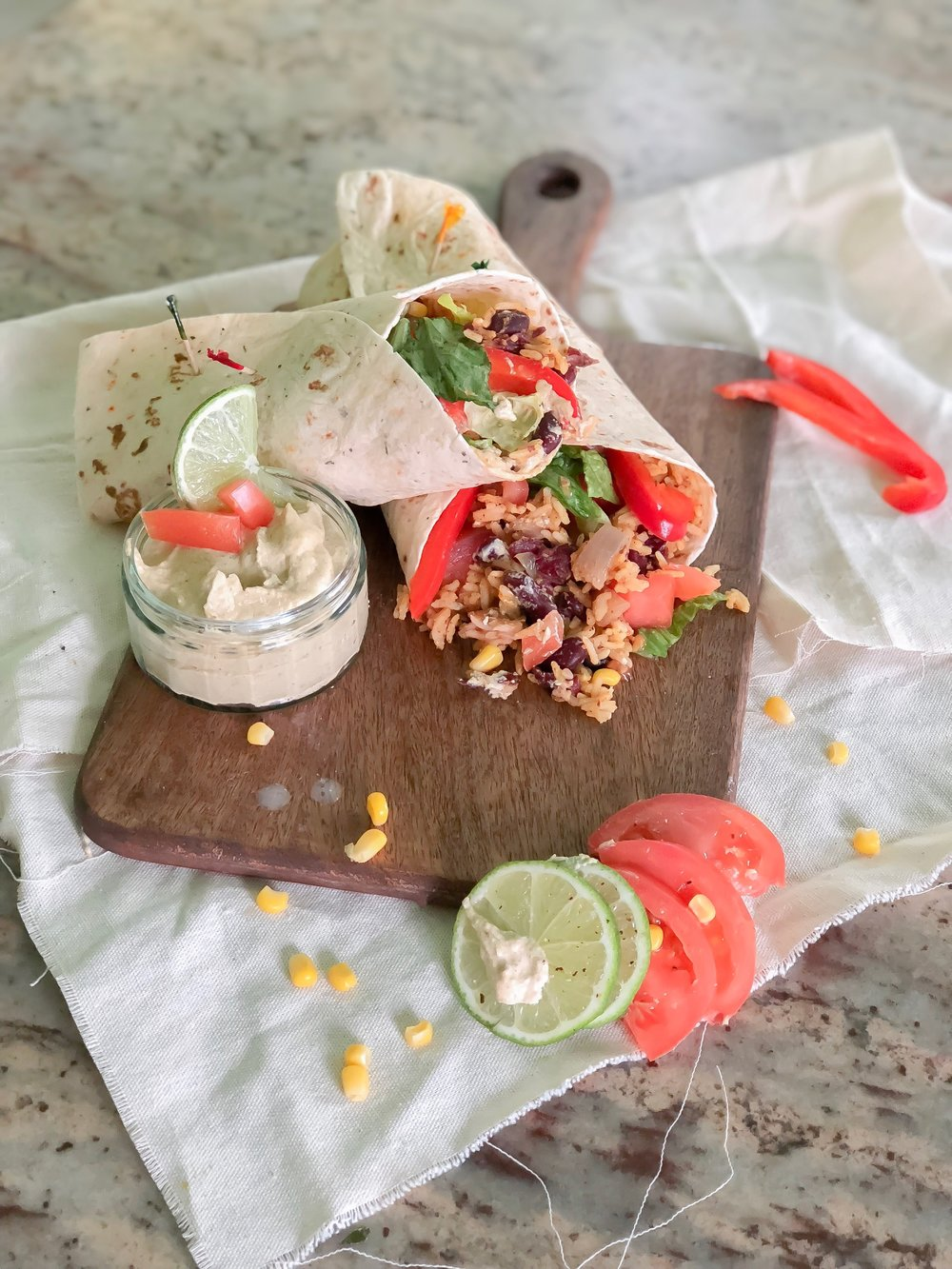 Burritos végétaliens