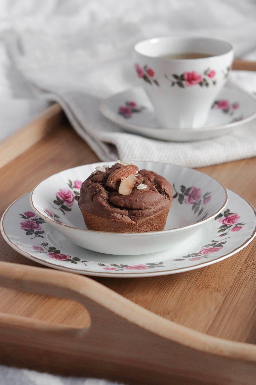 Muffins aux bananes chocolatés