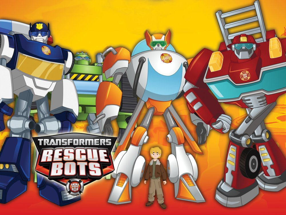 "Transformers: Rescue Bots  - Score by: Starr Parodi & Jeff Eden Fair Starring Peter Cullen, LeVar Burton, Tim Curry,  Diamond White, Lacey Chabert and Steve Blum.  Created by Brian Hohlfeld and Nicole Dubuc, Animation Producer Therese Trujillo and Executive Producer Jeff Kline.We created all the themes and underscore for the bucolic Maine Seaport of Griffin Rock with its High Tech residents and Transformer aliens who are disguised as public service robots. We also wrote the main title music to the story told in Nicole Dubuc's descriptive prose and chose Mariana's Trench Frontman Josh Ramsay to be the voice of our main title. Congratulations to Josh on his Grammy Nomination for his work on Carly Rae Jepsons ""Call Me Maybe""."