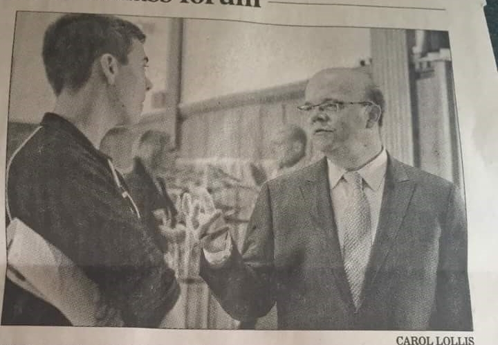 Casey and Congressman McGovern met up at a forum on the affordability crisis in higher education, and the two made the  Daily Hampshire Gazette .