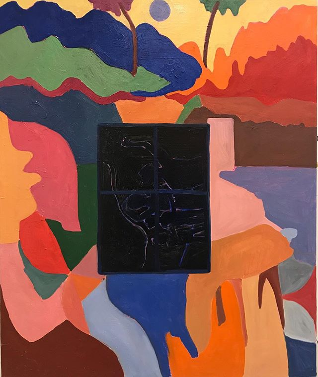 softfoot bear ʕ •ᴥ•ʔ (The last painting of this academic year)  #westernucreates #canadianart #contemporaryart #vasaucreates #contemporarycanadianart #youngartist #oilpainting #londonart #torontoart #miltonavery #matisse #gauguin #deer