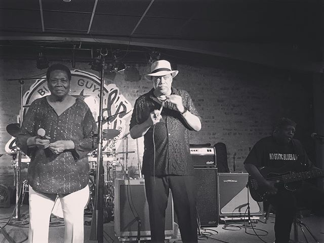 Mary Lane performing with  @jefferylabon4758 and @bbranch103 at @buddyguys 🙌 📷: @lisa_arthur • • • #blues #bass #harp #chicago #marylane #documentary #film #soul #legends #billybranch #chicagomusic #singing #womeinmusic #womeninfilm