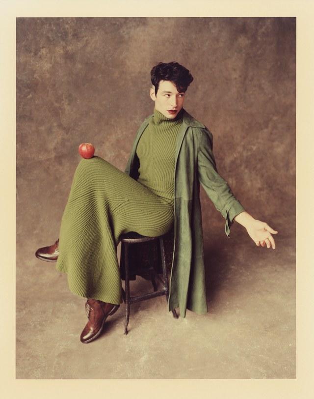 Coat: Salvatore Ferragamo (price upon request); dress: Salvatore Ferragamo (price upon request); boots: O'Keeffe ($775)