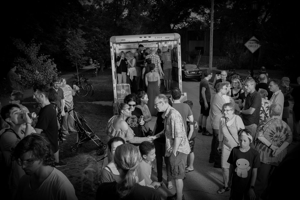 Artruck, a long time, twice a year,art happening.  Here are photos from July's artruck happening →