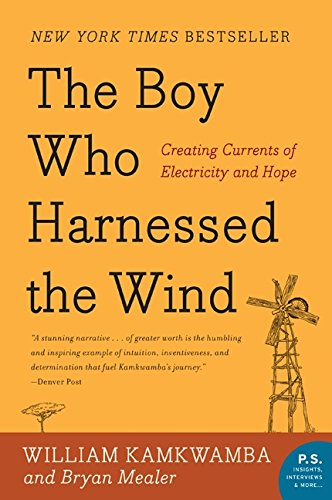 The Boy Who Harnessed the Wind - By William Kamkwamba and Bryan MealerThe maker in me obsesses over the ingenuity of William Kamkwamba as detailed in these pages. I read this book years ago and I still have a desire to build a windmill in my backyard out of spare wood, a bike and an alternator.Description:The Boy Who Harnessed the Wind is a remarkable true story about human inventiveness and its power to overcome crippling adversity. It will inspire anyone who doubts the power of one individual's ability to change his community and better the lives of those around him.