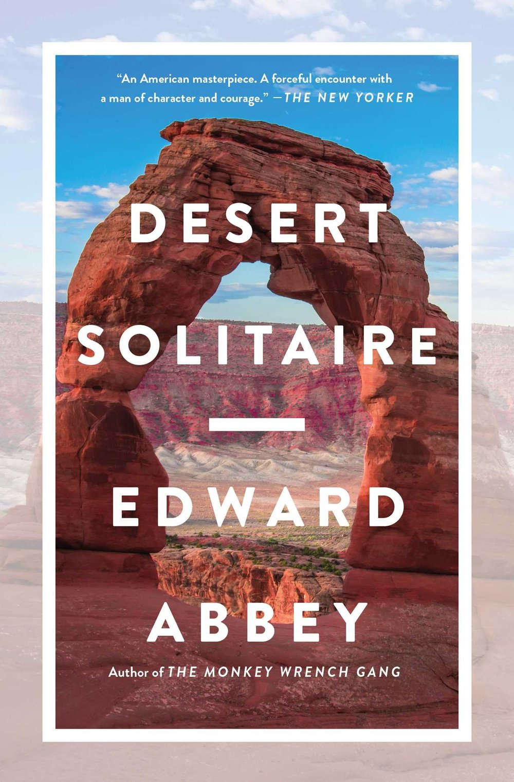 Desert Solitaire - By Edward AbbeyEdward Abbey wrote this book after he served as a park ranger in Arches National Park, Utah, which happens to be my home state. I've spent a lot of time wandering this part of the world, and nothing captures the spirit of this area like Desert Solitaire.Description:Desert Solitaire is a collection of vignettes about life in the wilderness and the nature of the desert itself by park ranger and conservationist, Edward Abbey. The book details the unique adventures and conflicts the author faces, from dealing with the damage caused by development of the land or excessive tourism, to discovering a dead body. However Desert Solitaire is not just a collection of one man's stories, the book is also a philosophical memoir, full of Abbey's reflections on the desert as a paradox, at once beautiful and liberating, but also isolating and cruel. Often compared to Thoreau's Walden, Desert Solitaire is a powerful discussion of life's mysteries set against the stirring backdrop of the American southwestern wilderness.