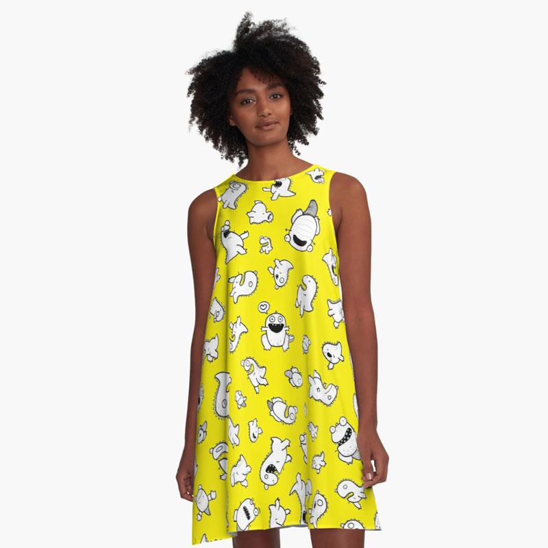 Dino-mite! (Yellow)   $46     Available through RedBubble.com