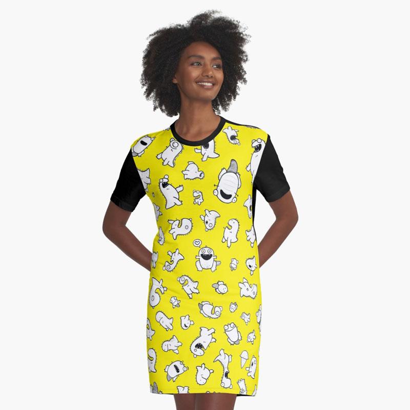 Dino-mite! (Yellow)   $40     Available through RedBubble.com