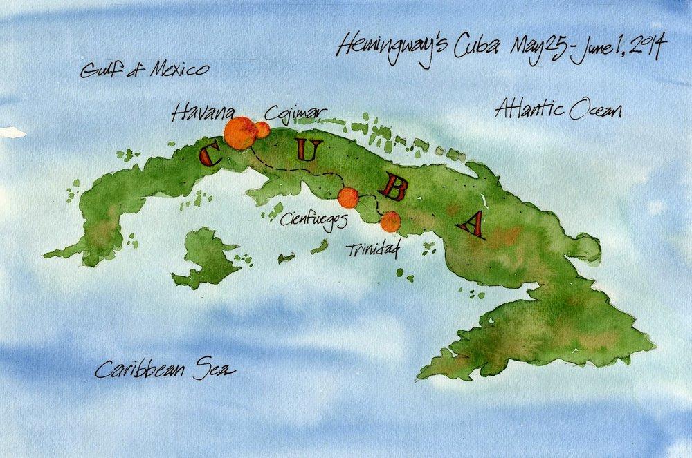 Map, Hemingway's Cuba 2014 color small.jpg