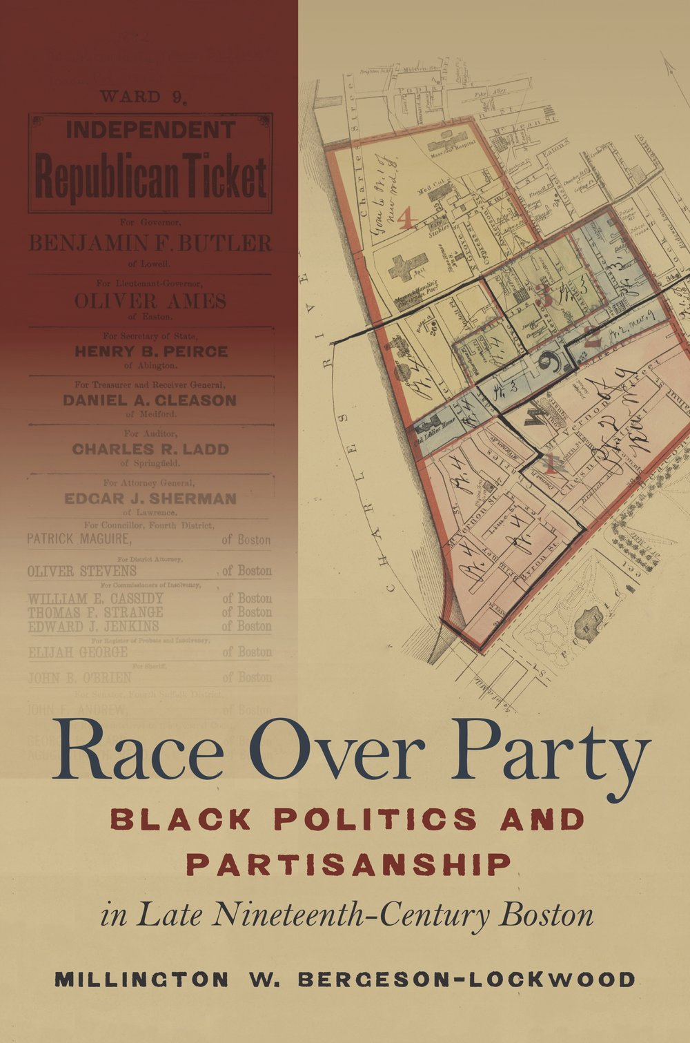 "Race Over Party - In late nineteenth-century Boston, battles over black party loyalty were fights over the place of African Americans in the post–Civil War nation. In his fresh in-depth study of black partisanship and politics, Millington W. Bergeson-Lockwood demonstrates that party politics became the terrain upon which black Bostonians tested the promise of equality in America's democracy. Most African Americans remained loyal Republicans, but Race Over Party highlights the actions and aspirations of a cadre of those who argued that the GOP took black votes for granted and offered little meaningful reward for black support. These activists branded themselves ""independents,"" forging new alliances and advocating support of whichever candidate would support black freedom regardless of party.By the end of the century, however, it became clear that partisan politics offered little hope for the protection of black rights and lives in the face of white supremacy and racial violence. Even so, Bergeson-Lockwood shows how black Bostonians' faith in self-reliance, political autonomy, and dedicated organizing inspired future generations of activists who would carry these legacies into the foundation of the twentieth-century civil rights movement."