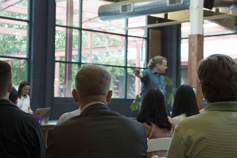 Randy Simms facilitating at the World Café Workshop