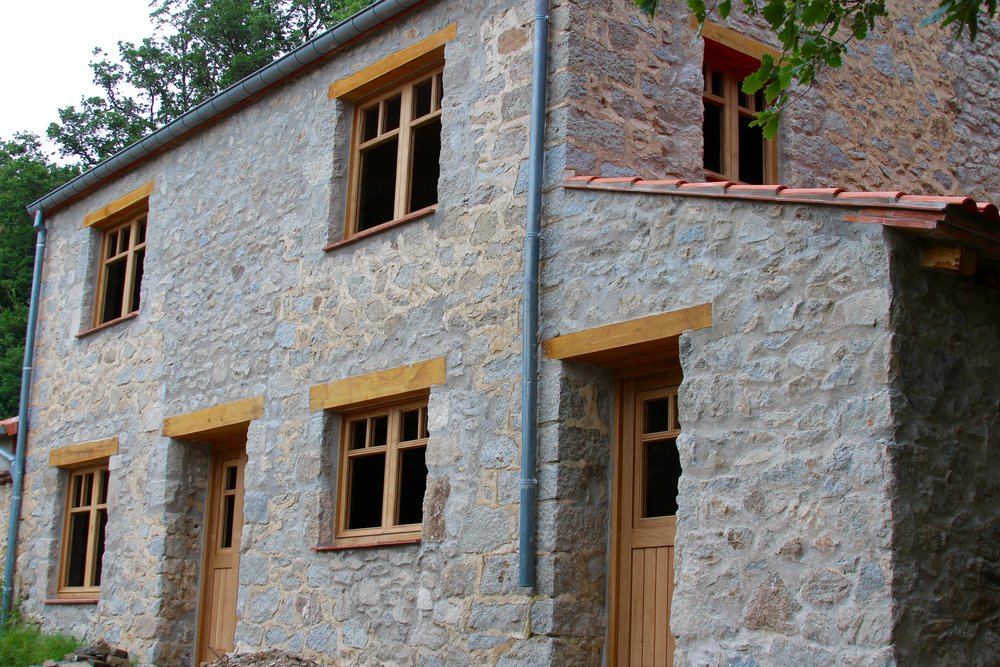 July 2015; windows and doors fitted