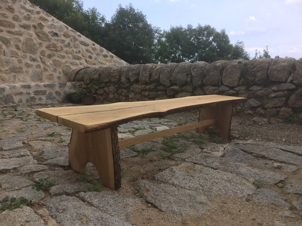 Rustic bench made by Luka