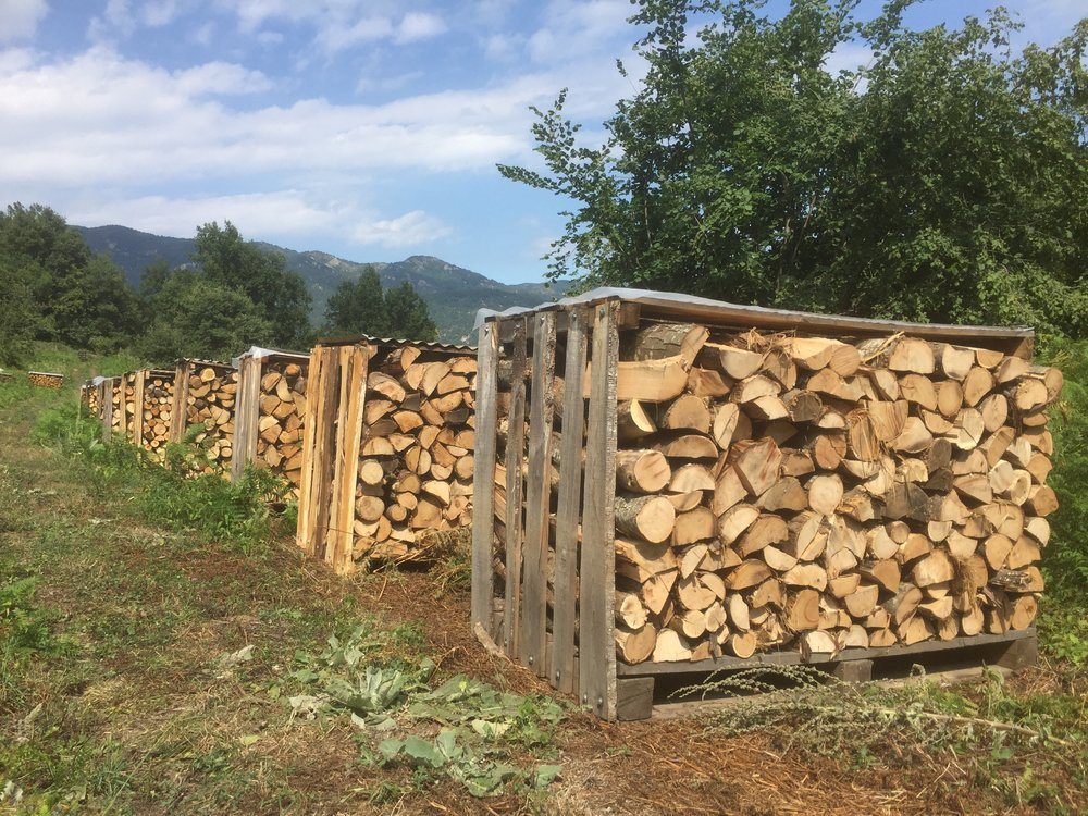 Stillages for firewood