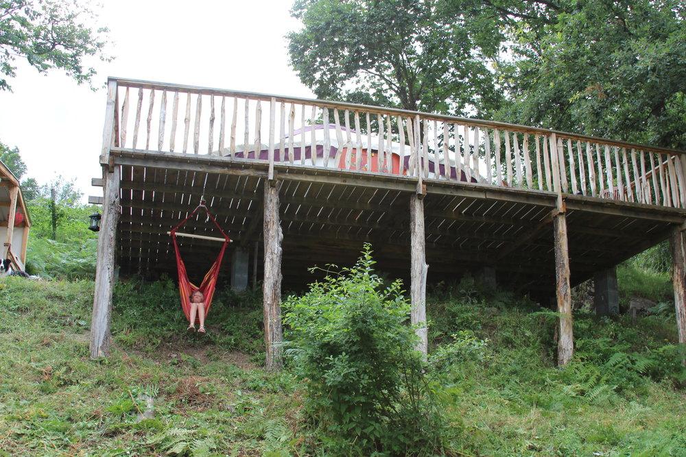 The yurt platform