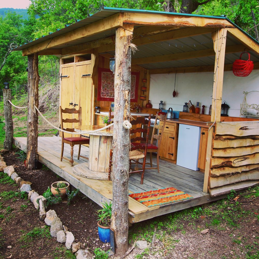 Summer kitchen of the yurt