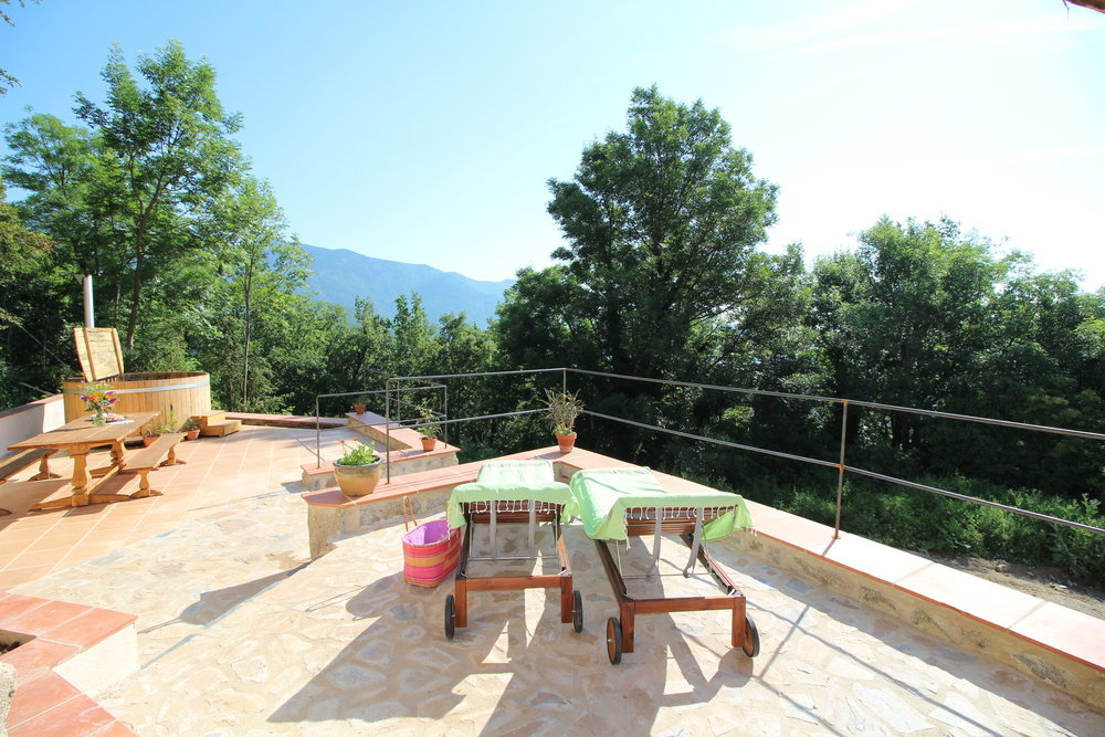 And…relax! Gite Canigou terrace