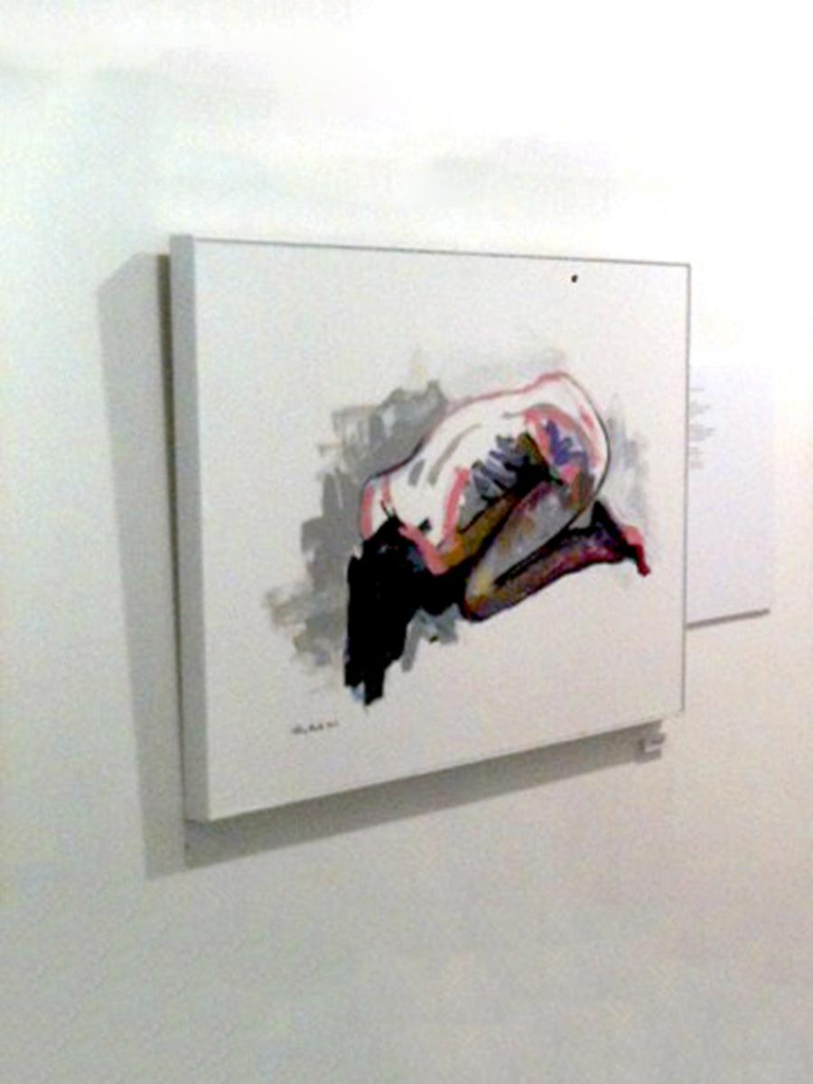 © Tony Heath,  Wake Up Alone  Acrylic on board 24 x 18 inches 2011