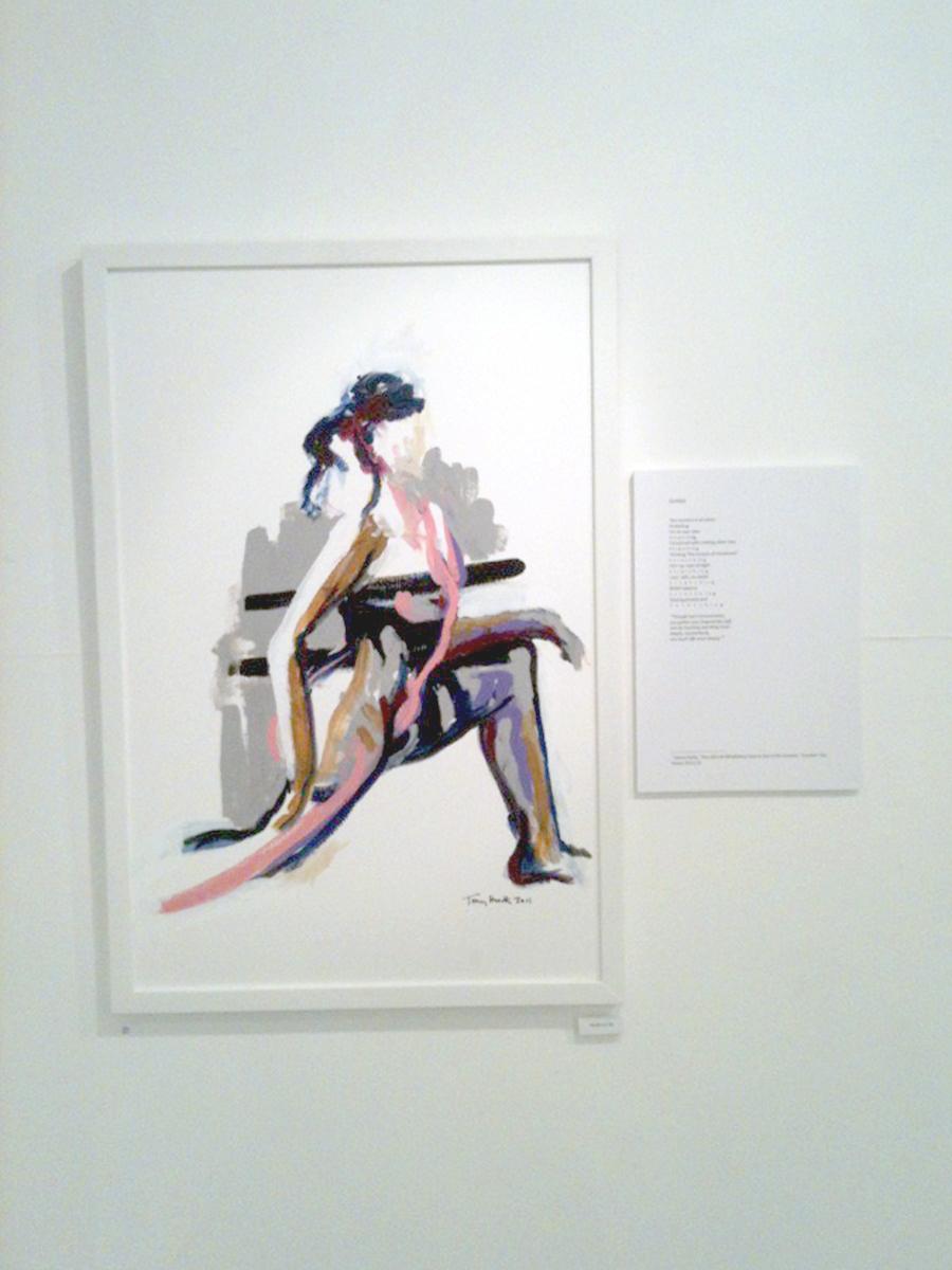 © Tony Heath,  Walk On By  Acrylic on board 24 x 18 inches 2011