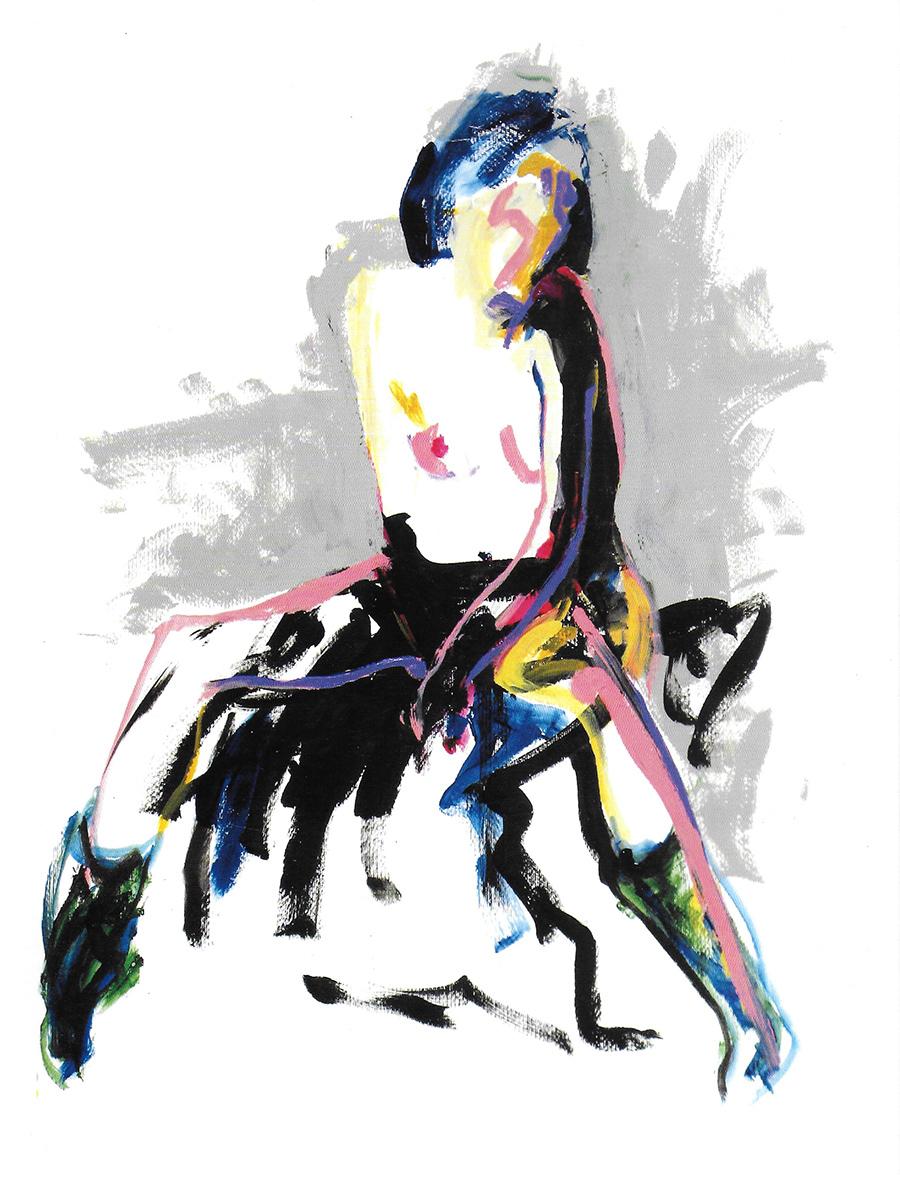 © Tony Heath,  Careless Whisper  Acrylic on board 24 x 18 inches 2011