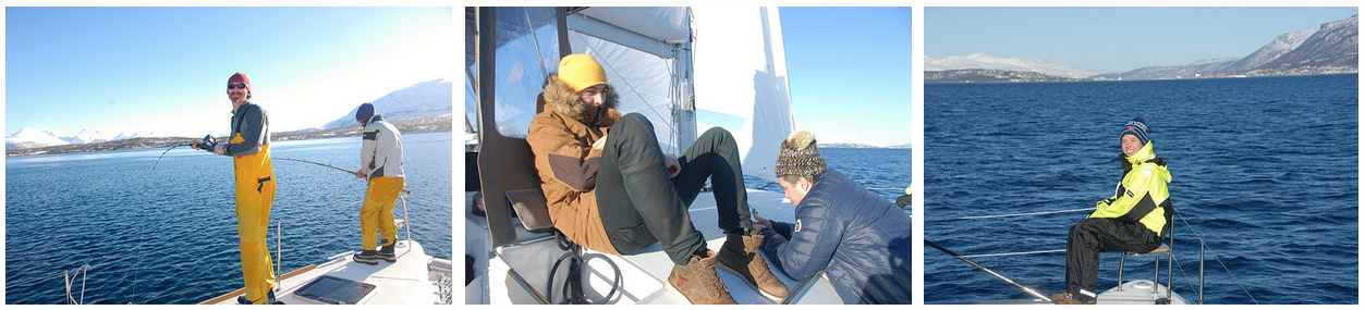 Sailing | Tromso | Fishing | Happy
