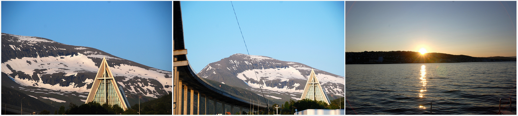 #Midnightsun sailing | #Tromso