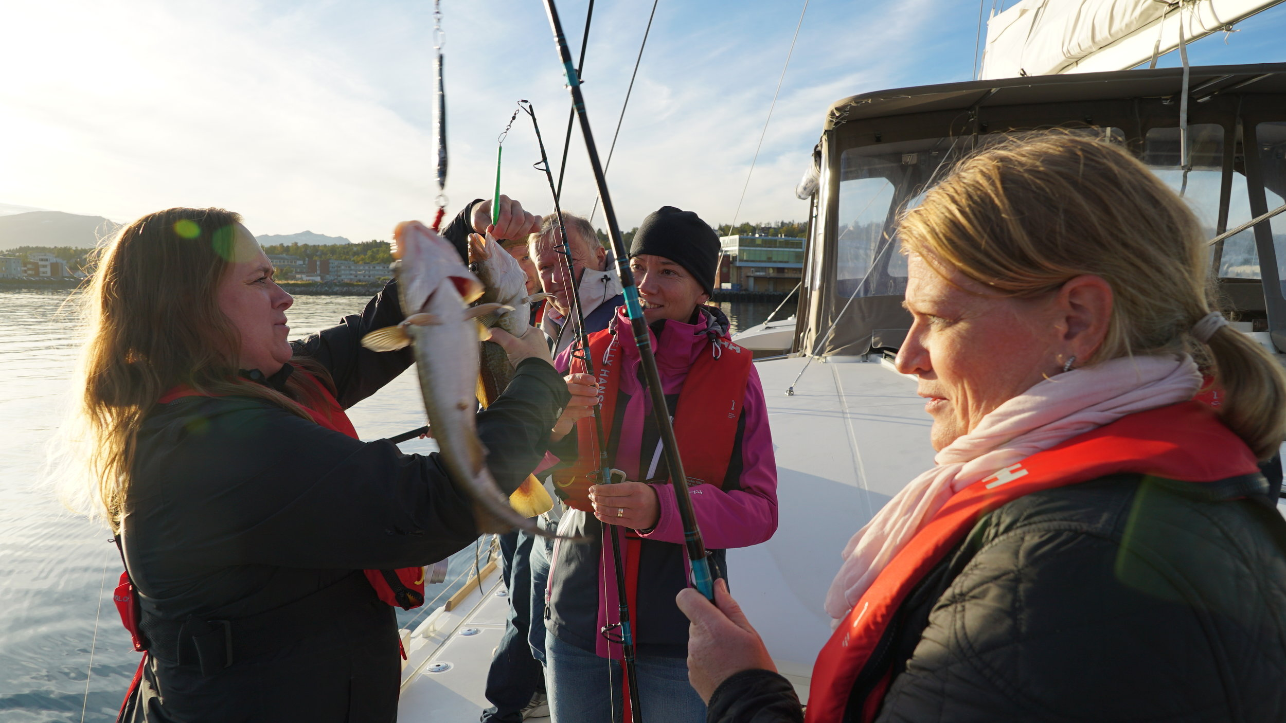 #sail & #Relax $ Fishing | Swedish guests | Moment Norway