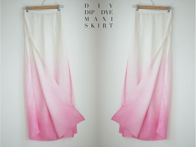 A Pair and a spare tutorial dip dye skirt