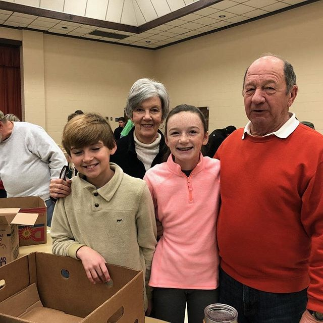 Had a huge crowd to help deliver Christmas Food Baskets today at FPC.  This has always been such a special day on our church calendar.  So happy to see such a large group wanting to take part.