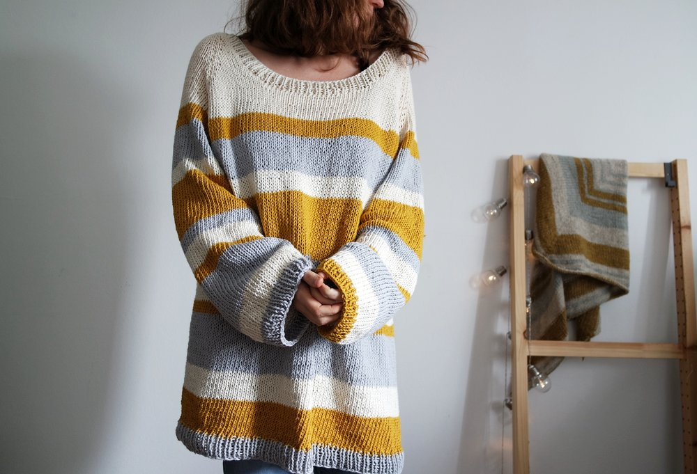 Mustard and Honey Pullover - You can order it here / Puoi ordinarlo qui:Etsy