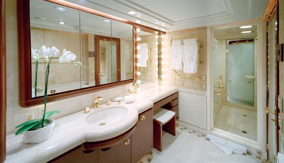 Luxury Charter Yacht Never Enough En Suite Bath