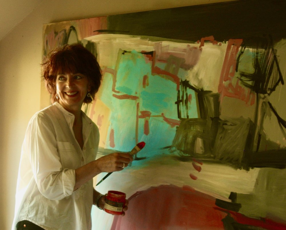 Iona in her studio