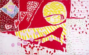'Red Garden Painting' Patrick Heron