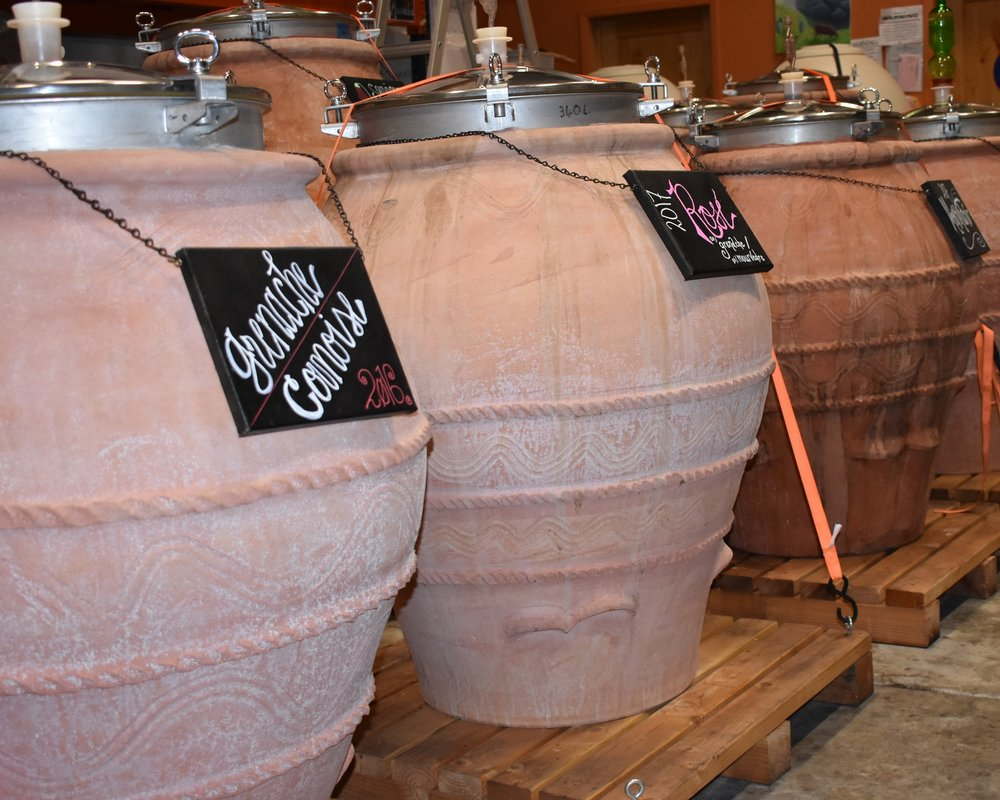 - AmphoraeThe Georgians and Romans have been using Amphorae centuries before Christ.  We have been using the beautiful Amphora since 2011 and consider their use as being