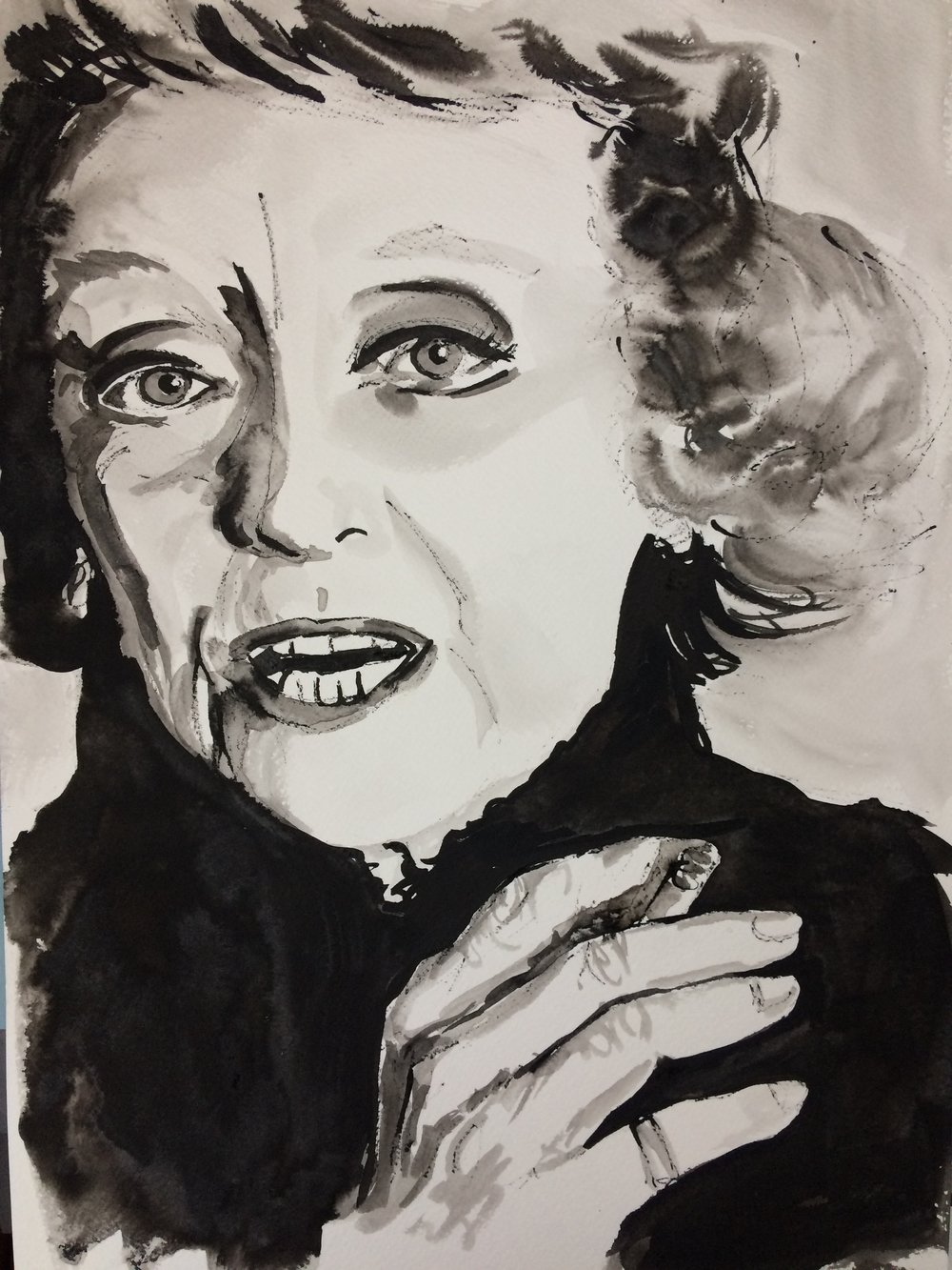 Bette. Indian Ink on watercolor paper, (230g/m2), A3 (42x29,7 cm). Available.