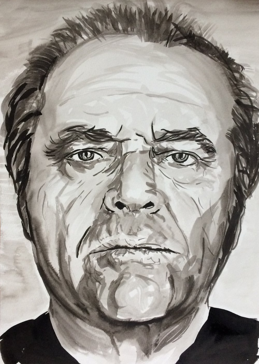Jack. Indian Ink on watercolor paper, (230g/m2), A3 (42x29,7 cm). Available.